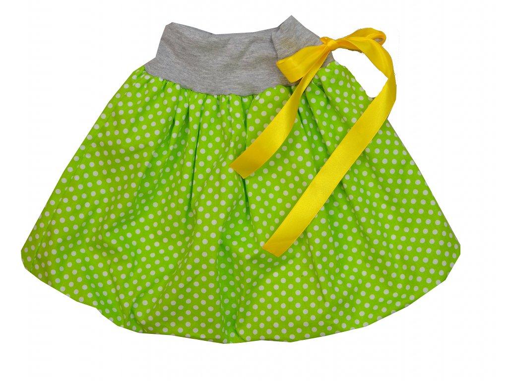 Dětská... zelená s velkými puntíky (bambusová podšívka) (Varianta 15203x1033301842)