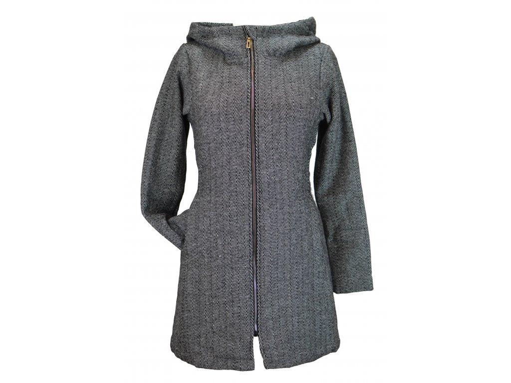 Kabátek... šedý vzorovaný