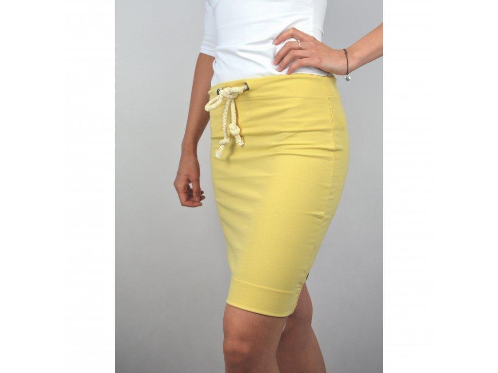 Pouzdrová sukně světle žlutá