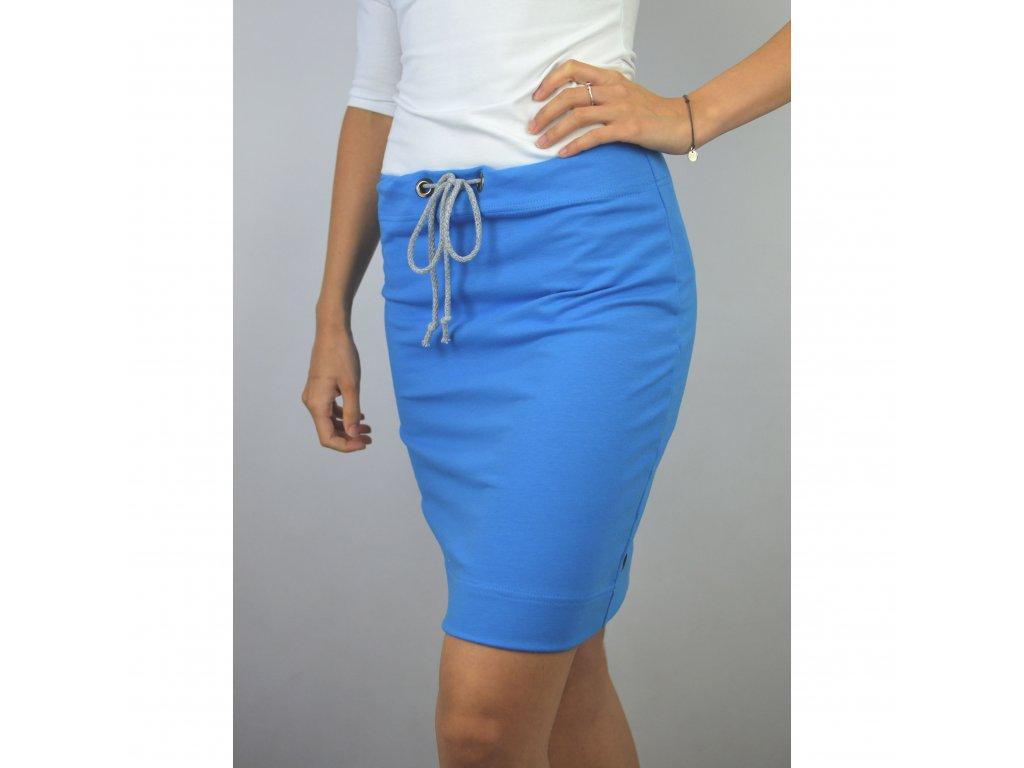 Pouzdrová sukně modrá
