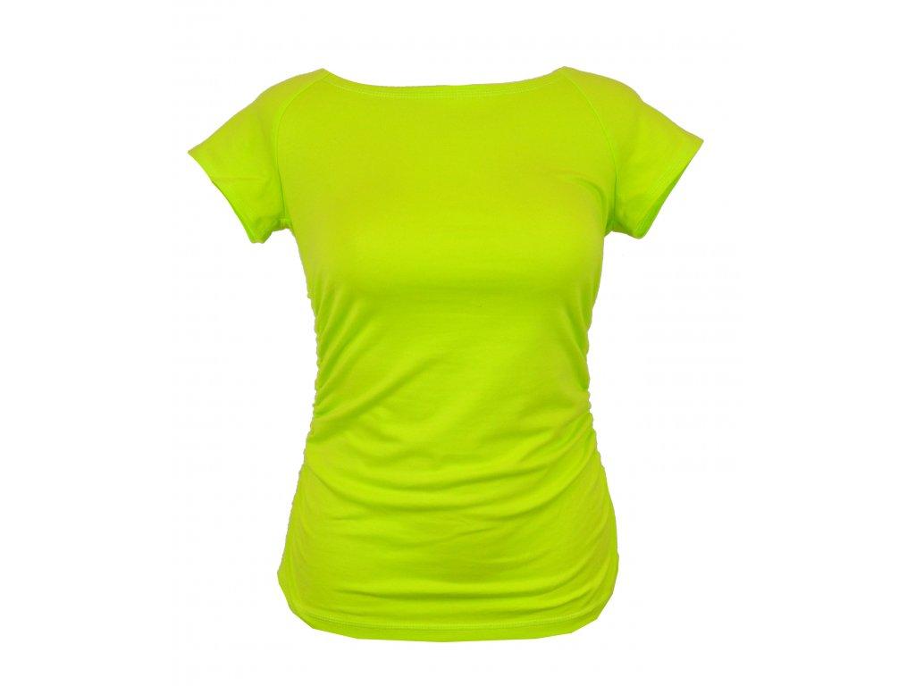 Tričko řasené krátký rukáv