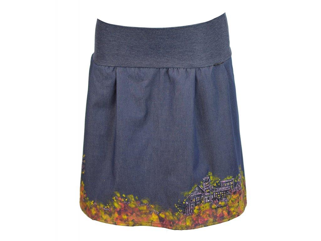 sukně malovaná