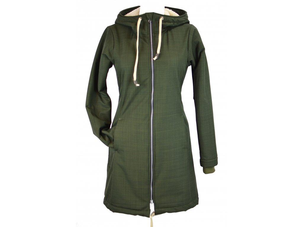 kabát softshell khaki zimní