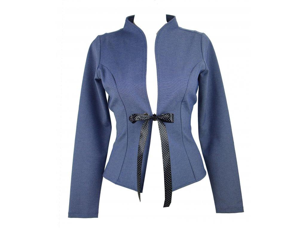 17681 sacko se zavazovanim modre jeans