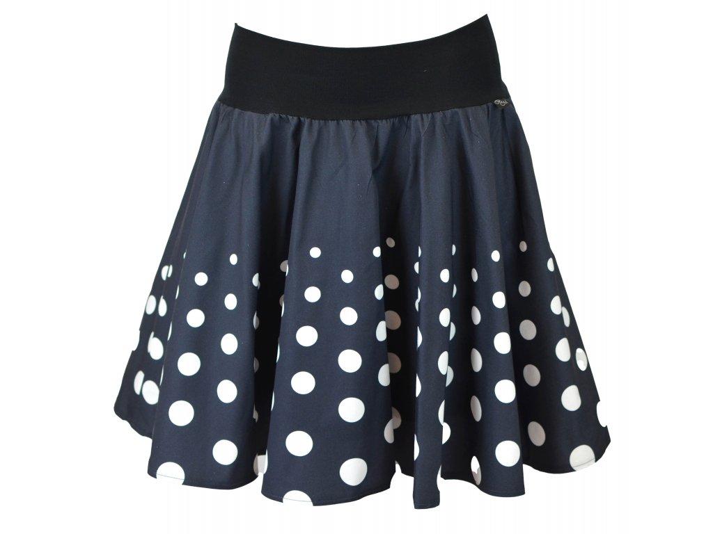 Kolová sukně - do nápletu - postupné puntíky