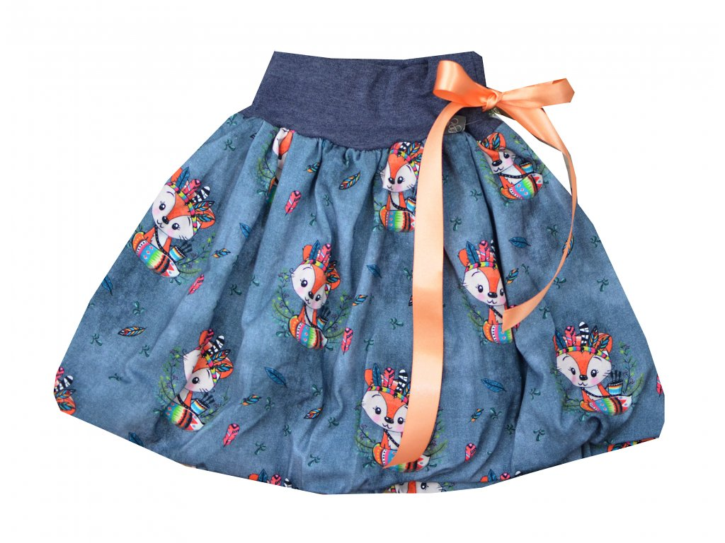 Dětská sukně - indiánské lištičky