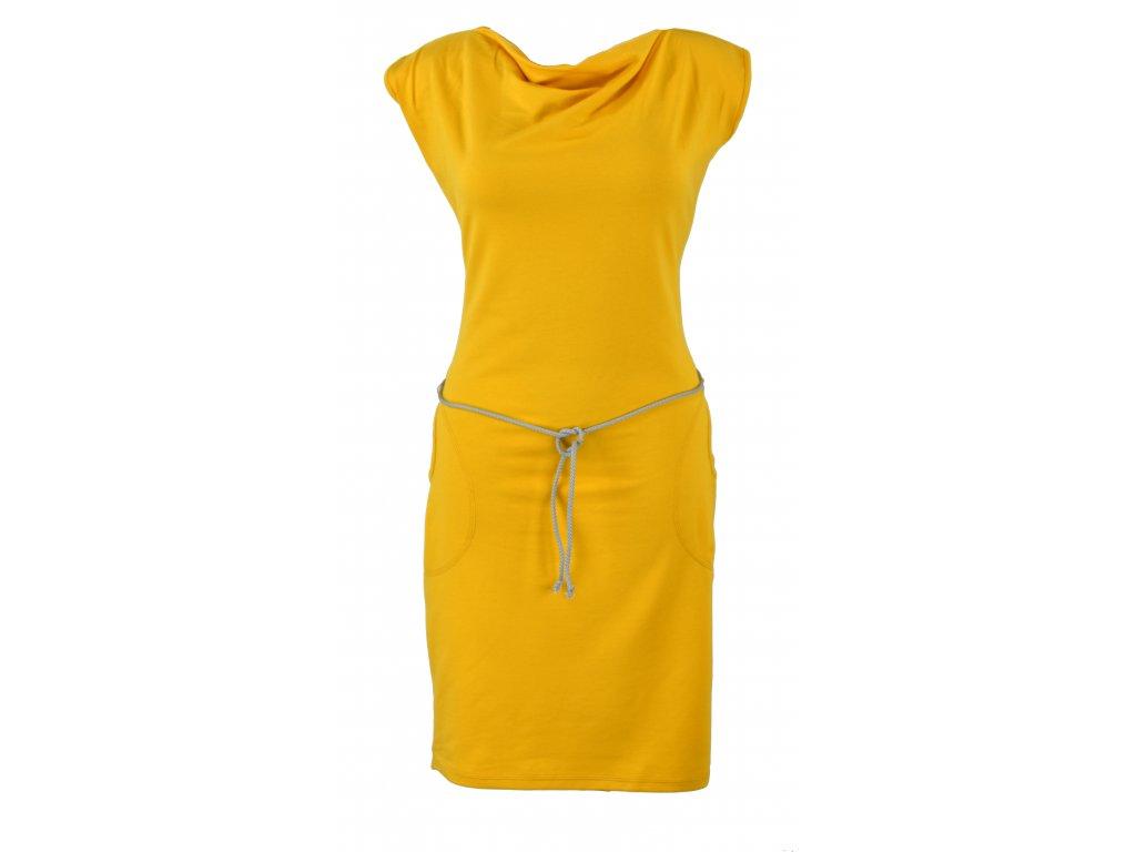 Šaty s vodou - žluté