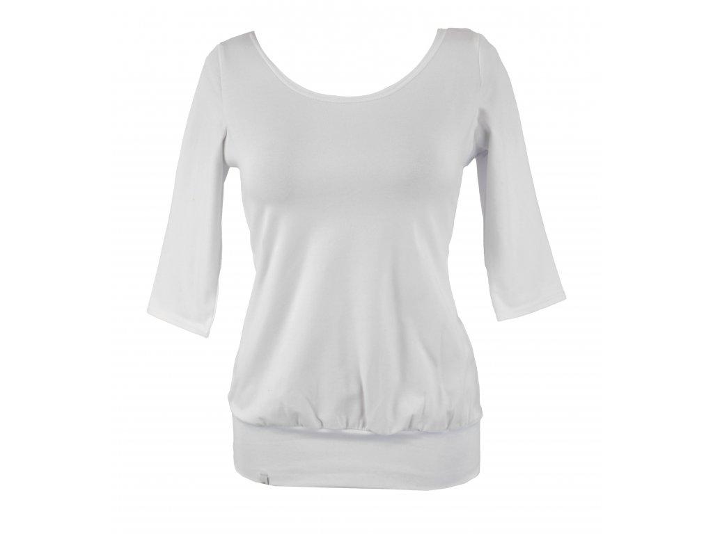 Tričko podkasané - bílé