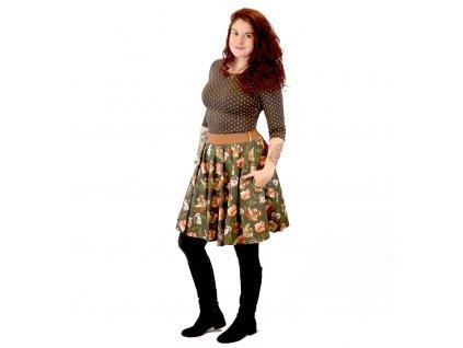 Kolová sukně Veverky