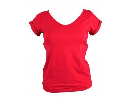 Dámské tričko s gumičkou, výstřih do V