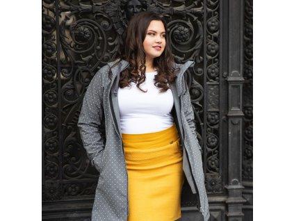 Pouzdrová prošívaná sukně - světle khaki