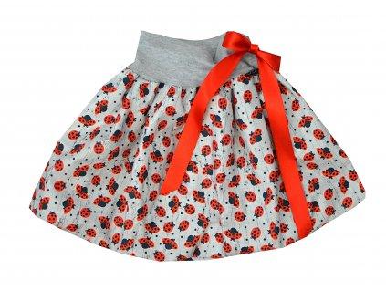 Dětská sukně - malé berušky
