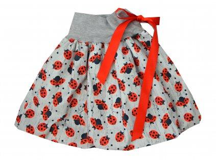 Dětská sukně - velké berušky