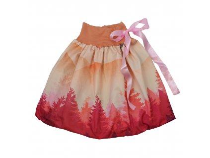 Dětská sukně - růžový les