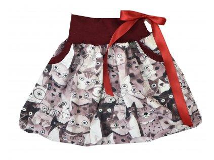 Dětská sukně - kočičky