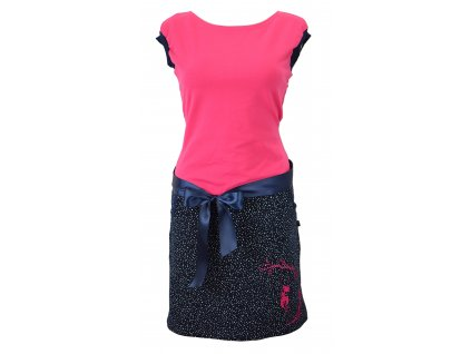 Šatovka s pouzdrovou sukní - dívka na houpačce