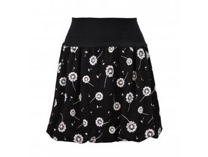 Balónová sukně - černá a pampelišky