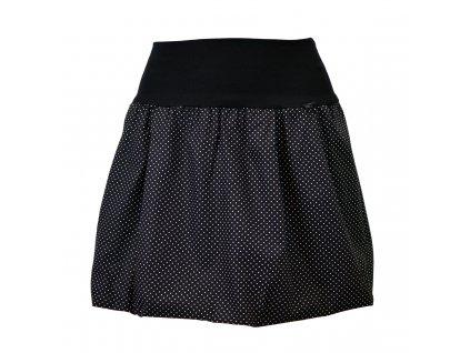 Balónová sukně - černá s mini puntíky