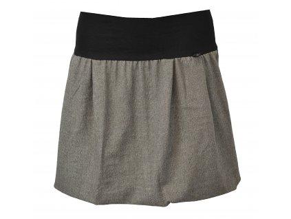 Balónová sukně - šedá kostýmová protkaná barevnou nití
