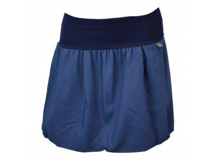 Balónová sukně - středně modrá basic