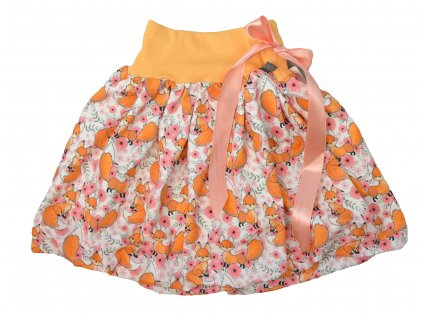 Dětská sukně - roztomilé lištičky
