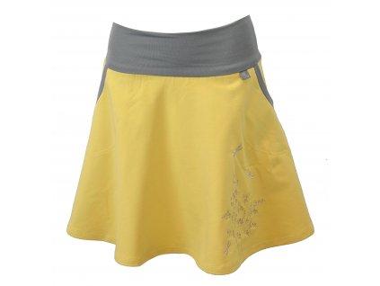 pulkolova sukne vanilkova s kvitim
