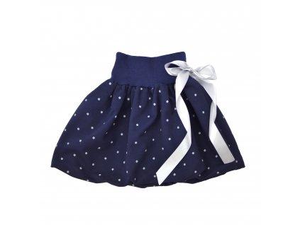 Dětská sukně - modrá s puntíky