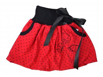 Dětská sukně - máky