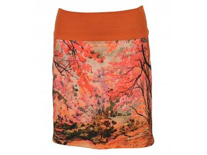 Pouzdrová sukně - barvy podzimu - II. JAKOST