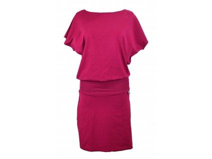 Šaty netopýří s pouzdrovou sukní - fuchsiové