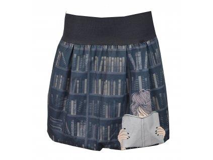 Balónová sukně - bavlna - knihomolka