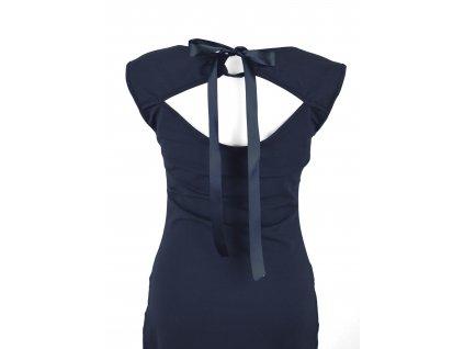 Šaty s průstřihem na zádech - tmavě modré