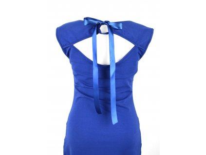 Šaty s průstřihem na zádech - modré