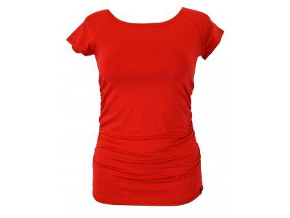 Tričko řasené - červené