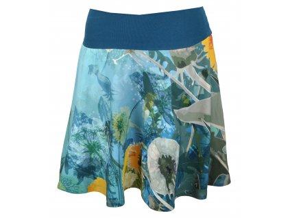 Půlkolová sukně - pampelišková