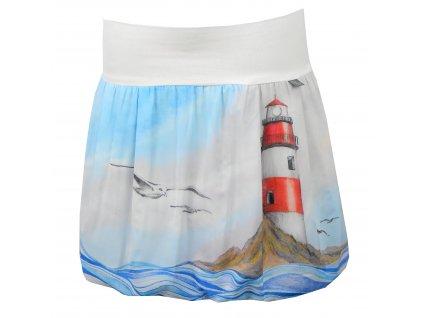 Balónová sukně - maják - polyester (Délka 52 cm)