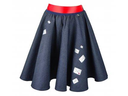 Kolová sukně - psaní z lásky