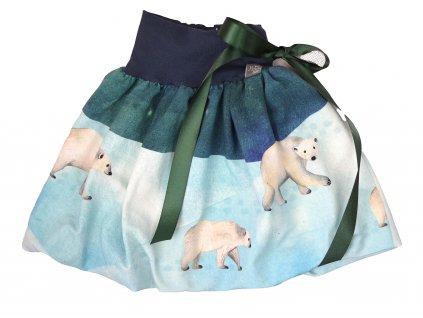 Dětská sukně - lední medvídci