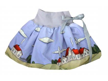 Dětská sukně - vesnička