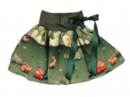 Dětská sukně - zajíčci