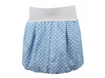 Balónová sukně - světle modrá a loďky - II. JAKOST