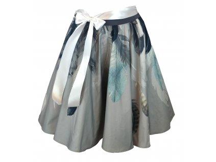 Kolová sukně - pírková