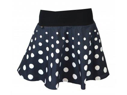 Půlkolová sukně - postupné puntíky