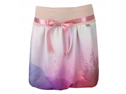 Balónová sukně - růžová mlha