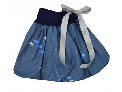 Dětská sukně - rybičky pod hladinou