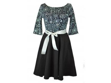 Půlkolové šaty - folklórní naopak