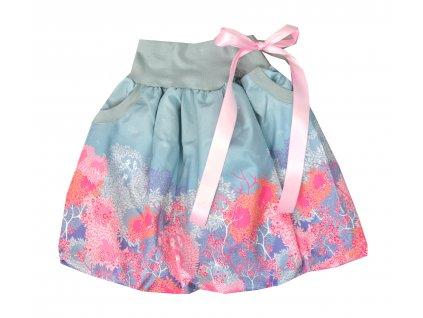 Dětská sukně - folklórní jaro - balónová