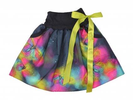 Dětská sukně - křídla motýlí - rovná