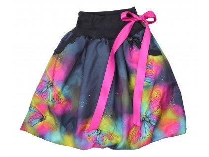 Dětská sukně - křídla motýlí - balónová
