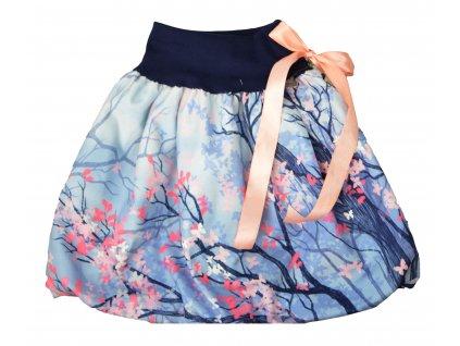 Dětská sukně - motýlci ve větvích